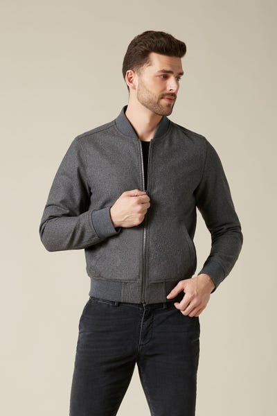 BOMBER WOOL GREY