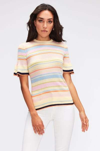 STRIPED KNIT COTTON  MULTICOLOUR