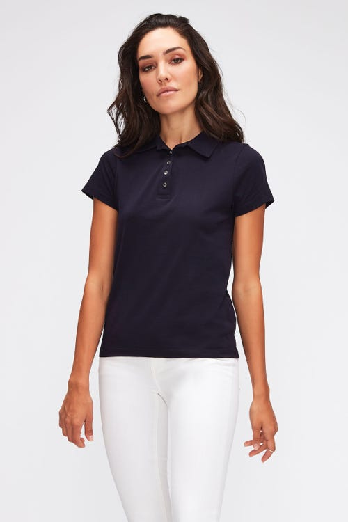 POLO JERSEY W/EMBROIDERY NAVY