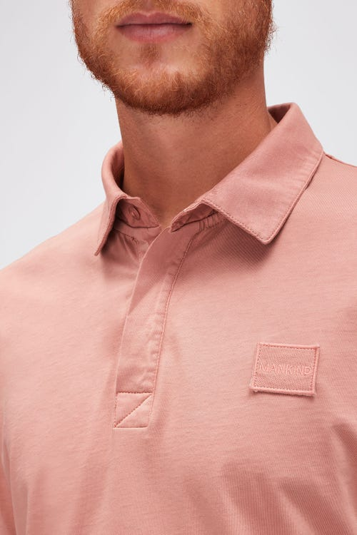 POLO JERSEY  DUSTY PINK
