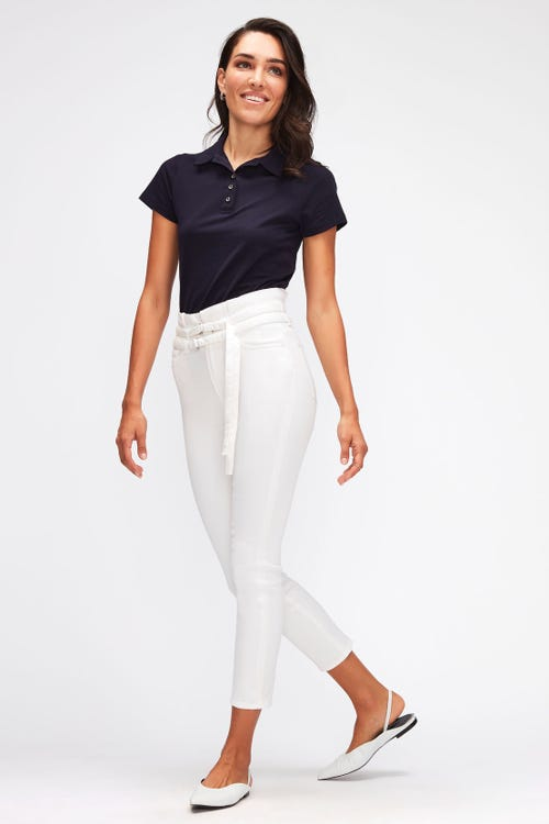 SLIM PAPERBAG PANT LEFT HAND PURE WHITE