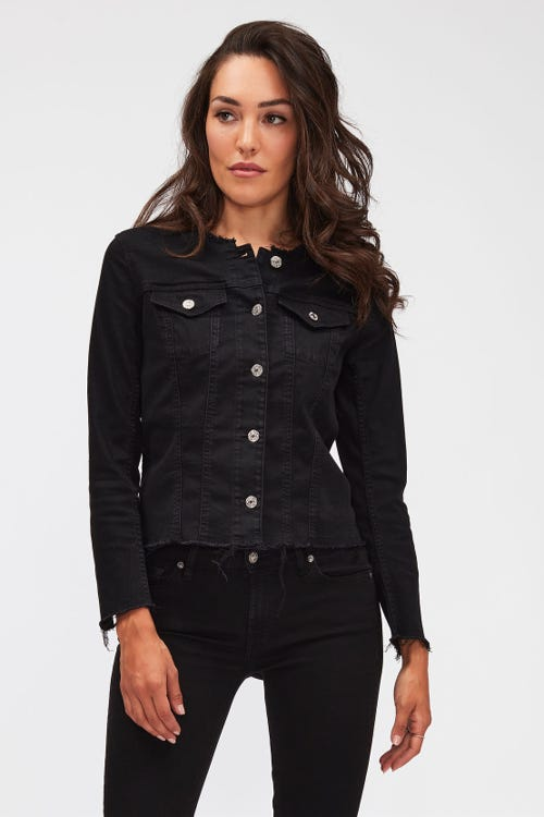 DENIM JACKET B(AIR) RINSED BLACK