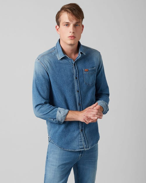 7 For All Mankind - Clean Shirt Broadway Mid Blue