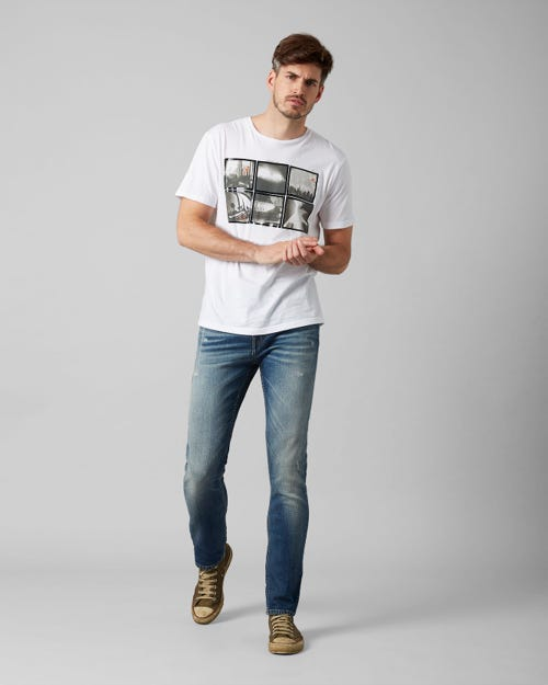7 For All Mankind - Ronnie Framed Blue