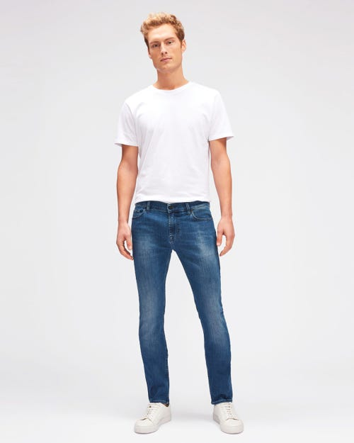 7 For All Mankind - Ronnie Luxe Performance Mid Blue