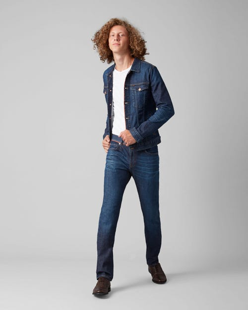 7 For All Mankind - Kayden Selvedge Vitalized Dark Blue