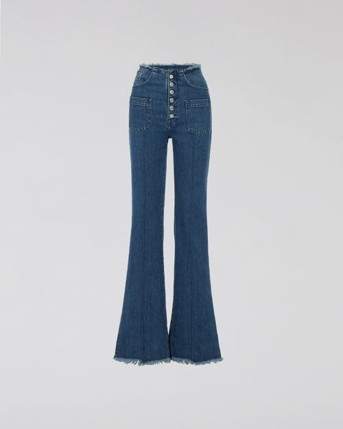 7 For All Mankind - High Waist Flare Stonewash M'A X 7Fam