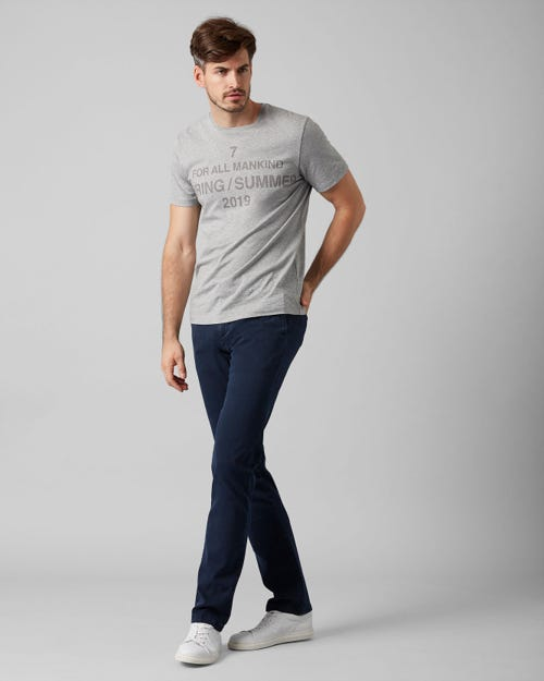 7 For All Mankind - Slimmy Chino Luxe Performance Sateen Midnight Blue