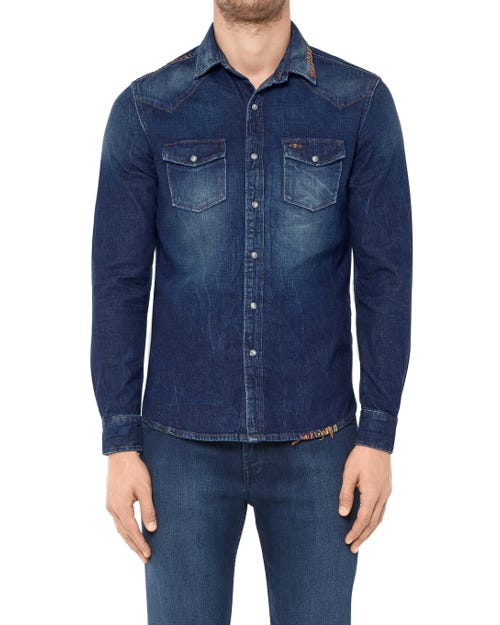 WESTERN SHIRT RODEO LEGEND DARK BLUE