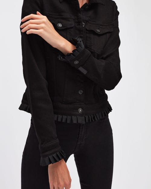MODERN TRUCKER LUXE VINTAGE JET BLACK WITH PLEATS