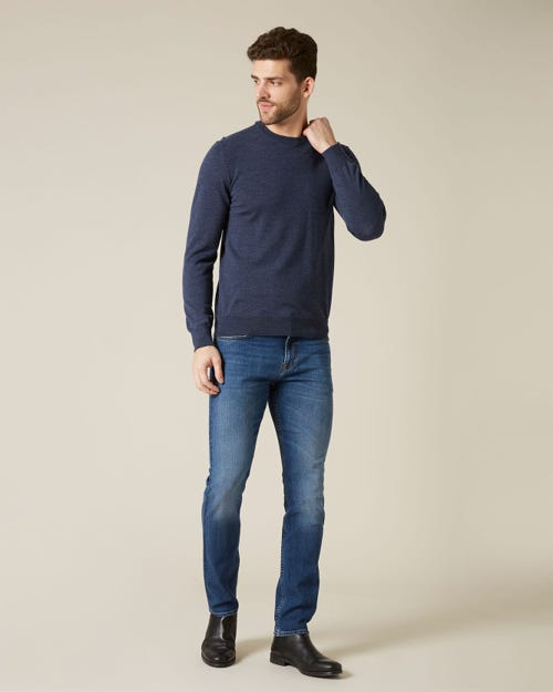 RONNIE CASHMERE DENIM MID BLUE