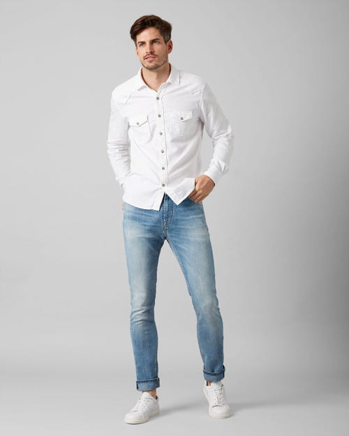 7 For All Mankind - Ronnie Special Edition Left Hand Light Blue With Embellishment