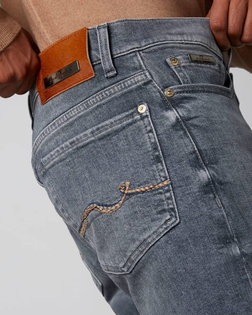 7 For All Mankind - Ronnie Special Edition Golly Mid Grey With Emb Tobacco Label