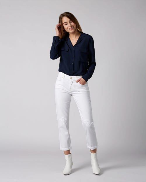 7 For All Mankind - Asher Pure White Distressed