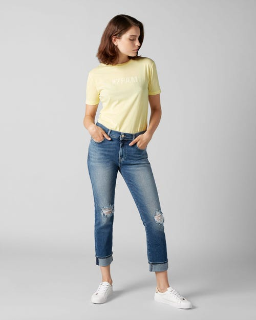7 for all Mankind - RELAXED SKINNY LUXE VINTAGE PACIFIC GROVE DISTRESSED