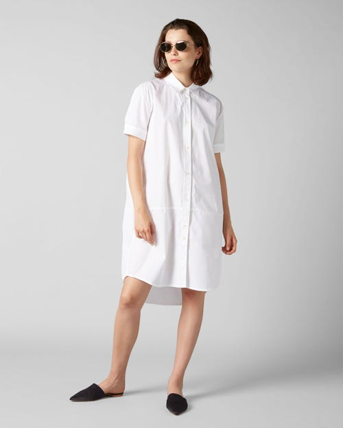 7 For All Mankind - Overshirt Popeline White