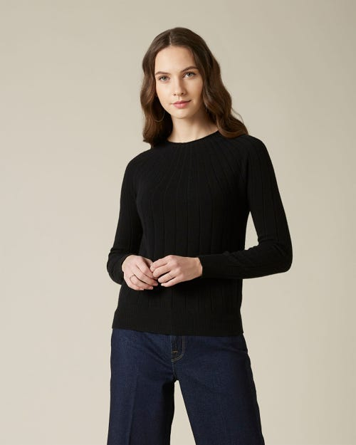 CRATER SWEATER CASHMERE BLACK