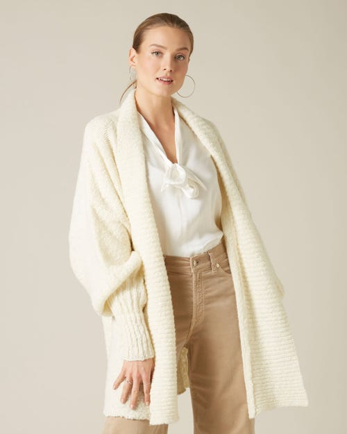 CARDIGAN WOOL CREAM