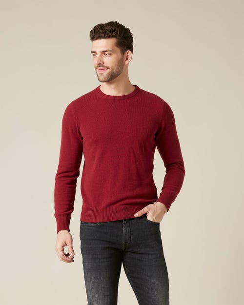 CREW NECK KNIT CASHMERE BURGUNDY