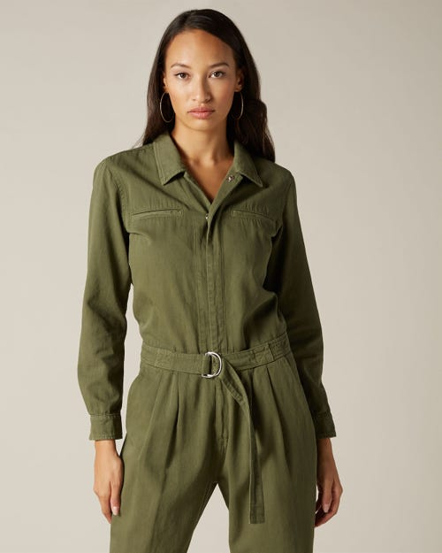 UTILITY JUMPSUIT TWILL ARMY