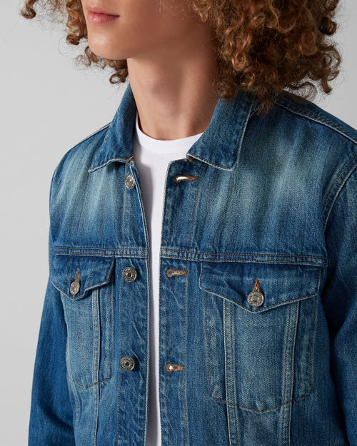 7 For All Mankind - Trucker Jacket Bells Beach Blue