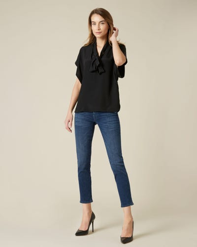 PYPER CROP SLIM ILLUSION PERSUIT WITH EMBELLISHED LABELS