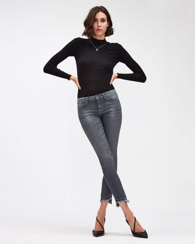 PYPER CROP SLIM ILLUSION BELIEVE WITH UNROLLED DIAGONAL HEM