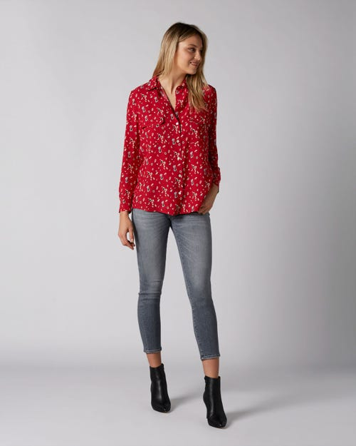 PYPER CROP SLIM ILLUSION DRIFTED WITH EMBELLISHED SQUIGGLE