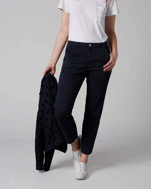 7 For All Mankind - Chino Sateen Navy