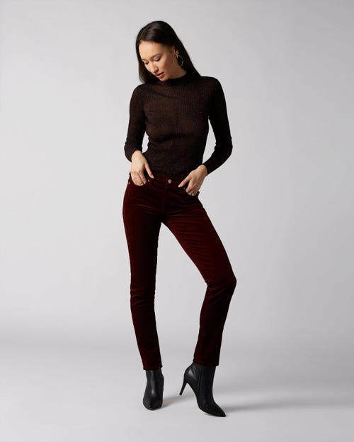 7 For All Mankind - Pyper Corduroy Ruby