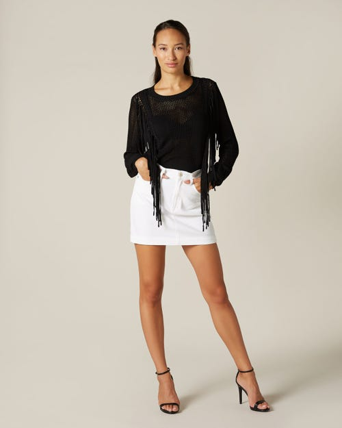 MINI SKIRT PURE WHITE