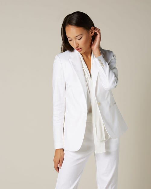 SB NOTCH COLLAR CLASSIC BLAZER WHITE