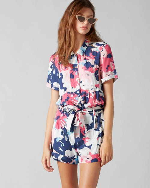 7 For All Mankind - Jump Suit Viscose Floral Print