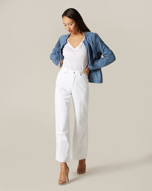 LOTTA CROPPED UNROLLED PURE WHITE