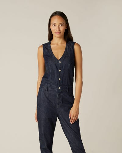 DRESS UP JUMPSUIT ATTIRE RINSE BLUE