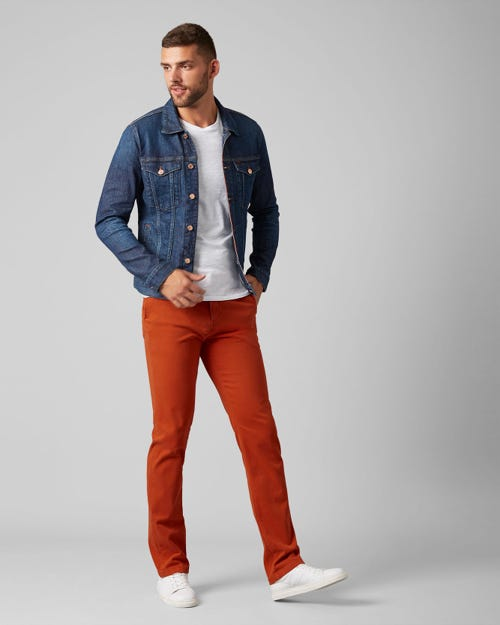 SLIMMY CHINO LUXE PERFORMANCE SATEEN TIGER ORANGE