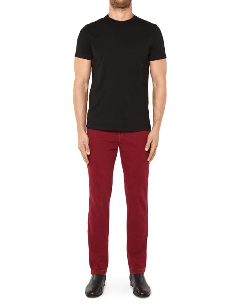 SLIMMY CHINO LUXE PERFORMANCE SATEEN CRIMSON RED
