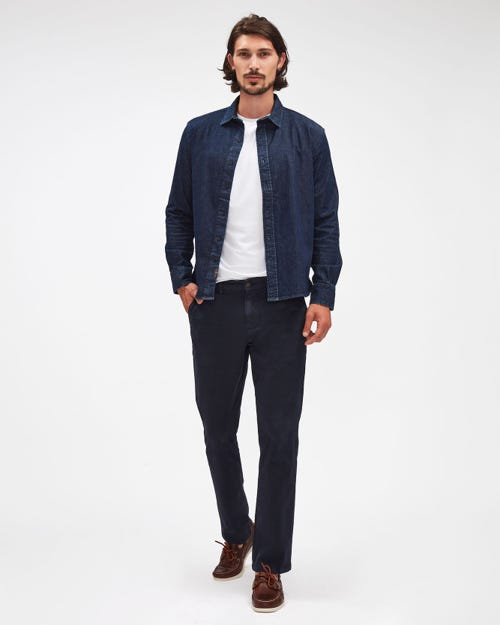 SLIMMY CHINO LUXE PERFORMANCE SATEEN NAVY BLUE