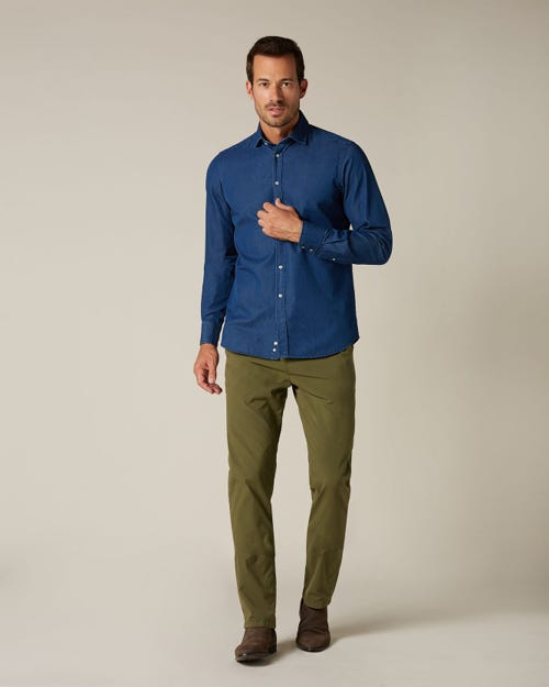 SLIMMY CHINO WEIGHTLESS COLORS MILITARY ARMY