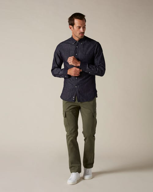 SLIMMY CHINO CARGO COMPACT TWILL ARMY