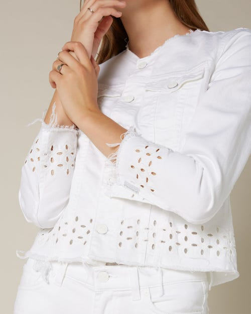 DENIM JACKET PURE WHITE SANGALLO