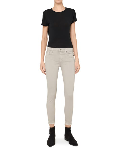 THE SKINNY CROP SLIM ILLUSION COLOR STEEL GREY