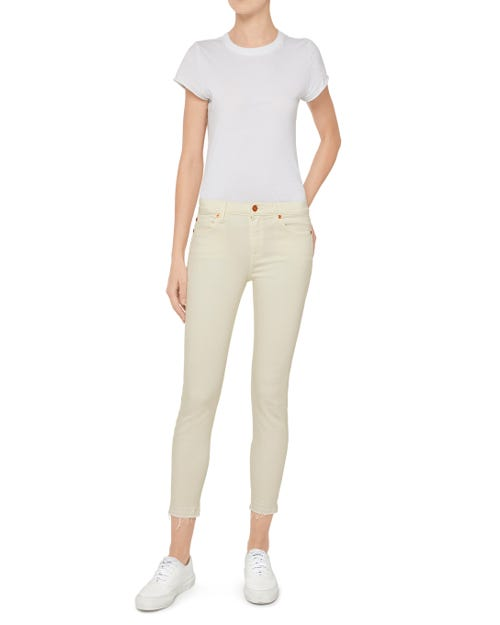 THE SKINNY CROP SLIM ILLUSION COLOR ECRU