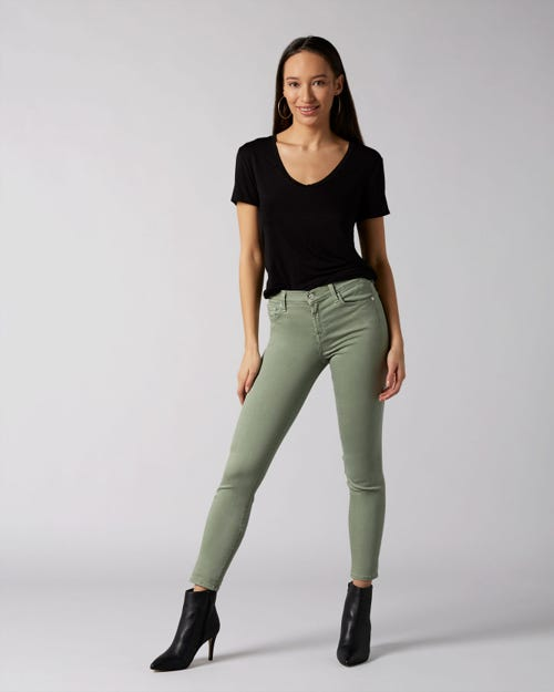 7 For All Mankind - The Skinny Colored Slim Illusion Jade