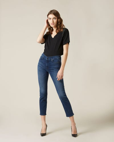 ROXANNE ANKLE SLIM ILLUSION PERSUIT WITH EMBELLISHED BACK POCKETS