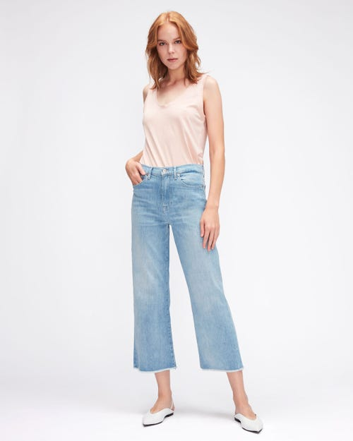 CROPPED ALEXA LEFT HAND RENEW WITH RAW CUT FRAYED