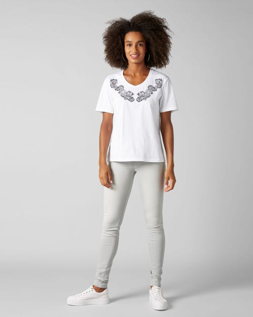 7 For All Mankind - The Skinny Slim Illusion Luxe Sea Rock