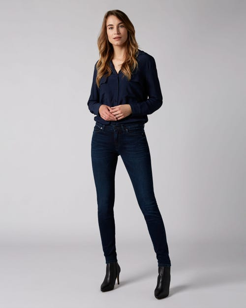 7 For All Mankind - The Skinny Slim Illusion Homeland With Embellished Squiggle