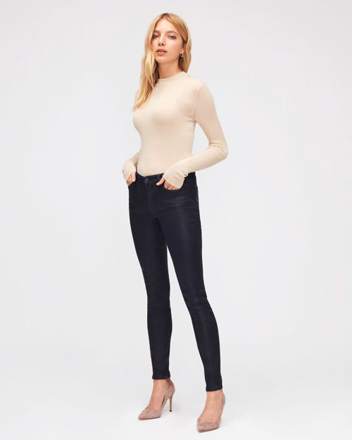 7 For All Mankind - The Skinny Coated Slim Illusion Ink