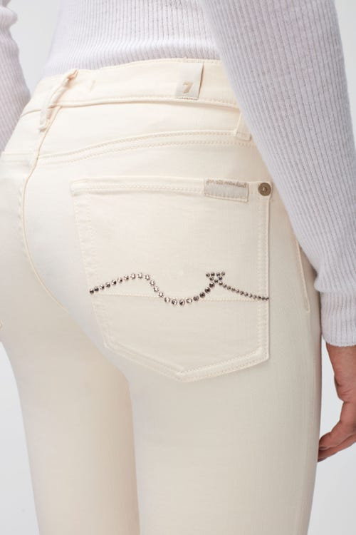 THE SKINNY COLORED SLIM ILLUSION WITH EMBELLISHED SQUIGGLE WINTER WHITE